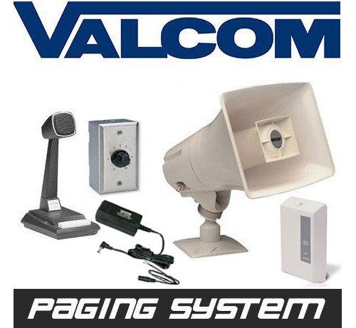 (New Valcom Business Warehouse Industrial Paging Horn Speaker System Intercom)