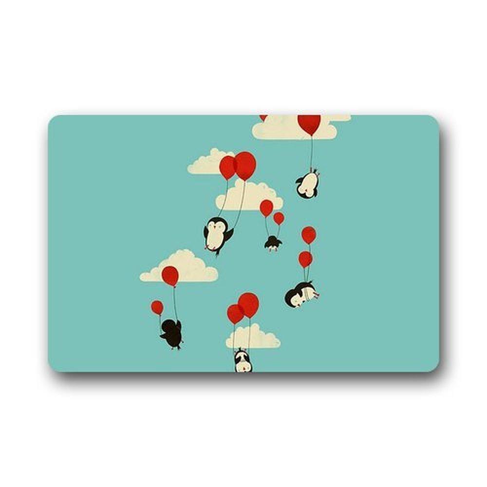 Heymat Mashine-Washable Welcome Mat Penguin Custom Doormat Kitchen Decor Floor Mats Rugs 23.6 X 15.7 Inches