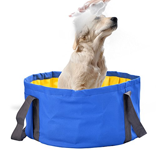 Dog Bathtub, Petacc Foldable Pet Swimming Pool Pet Shower Tub ...