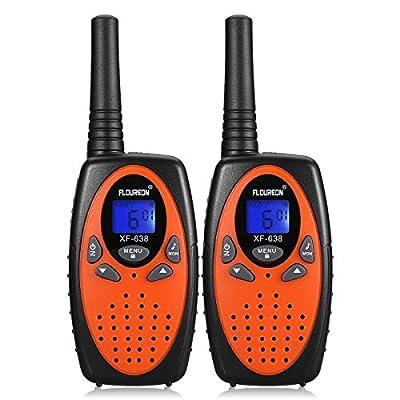 FLOUREON Walkie Talkies for Kids, 2-Way Radio for Children with Long Distance Range 22 Channel Interphone for Home Communication/Festival- Orange: GPS & Navigation