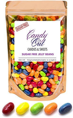 CandyOut Sour Jelly Beans Sugar Free Candy 1 Pound