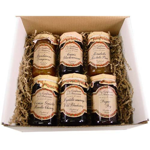 Boxed Gift Set 6 Confitures A l'Ancienne Andresy Jams, Each 9 Oz- Assorted Flavors