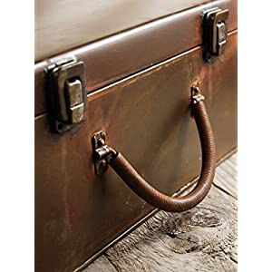 Wayhome Fair Rusty Metal Latched Box Suitcase, Props 12 x8 - Excellent Home Decor - Indoor & Outdoor 42