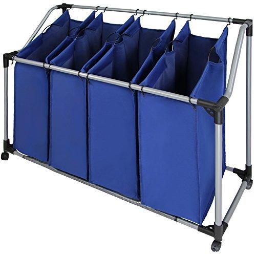 Wäschesammler Wäschesortierer SVEN mit vier Fächern von BB Sport, Farbe:Brillantblau