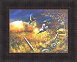 Field Of Dreams I by Jim Hansel 17x21 Pheasants Tractor Combine Barn Harvest Framed Art Print Wall Décor Picture