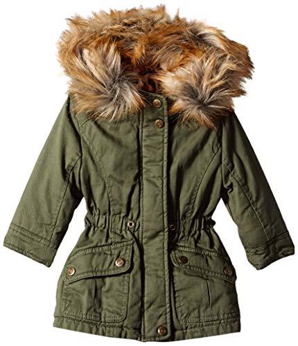 - Urban Republic Baby Girls Cotton Twill Jacket, Olive, 24M