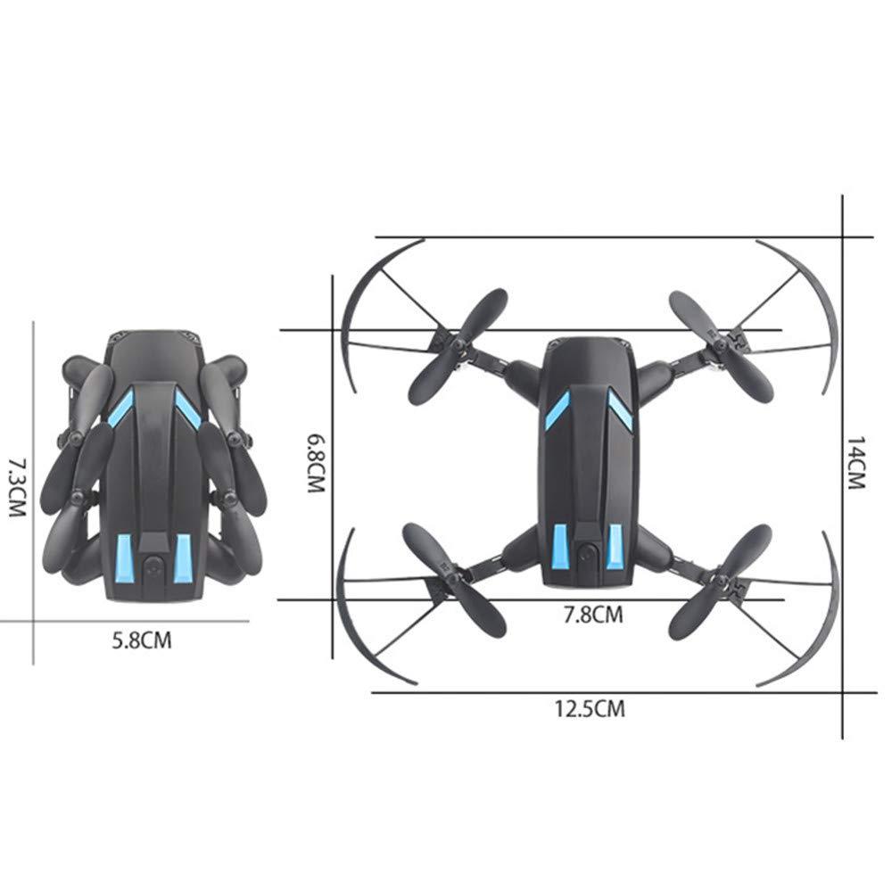 ZHEL Drohne und Kamera 30w HD Streamer Fotografie, 4-Achsen-Gyro drahtlose Fernbedienung Kinder Anfänger Mini Drohne schwarz