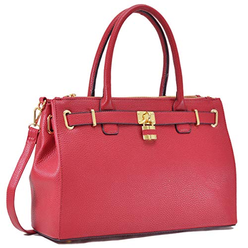 Padlock Dasein Purse Handbags Handle Top Satchel Designer Womens Bag Red Tote Fn0326 Shoulder W8qnw8crUp