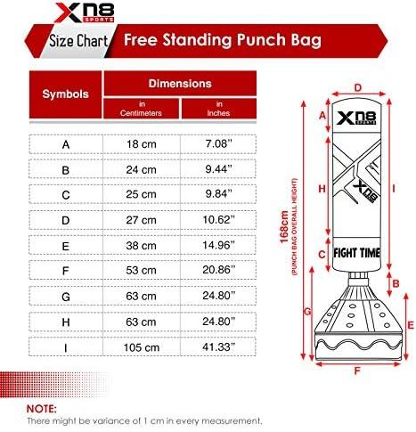XN8 Boxsack Freistehender Standboxsack 168cm Sandsack Boxpartner Punching Bag DE