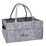Blissful Diaper Caddy Nursery Storage Bin and Car Organizer for Diapers and Baby Wipes |Diaper Stacker| Diaper holder | Changing Table Organizer | Large pocket And Compartments | Great Registry Shower