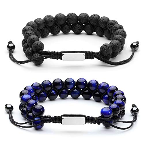 8mm Tiger/'s Eye Stone Adjustable Macrame Braided Boho Bracelet Men Women