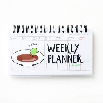 Sushi - Agenda semanal con espiral para planificar semanas ...