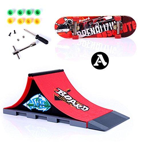 GreenSun TM Skate Park Ramp Parts for Tech Deck Fingerboard Finger Board Ultimate Parks Kids Toys Fingerboard Finger Board A