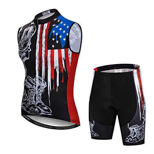 Cycling Jersey and Shorts Set Men Breathable Bike Shirt Summer Bicycle Vest Clothes Bicycle Clothing XXXL