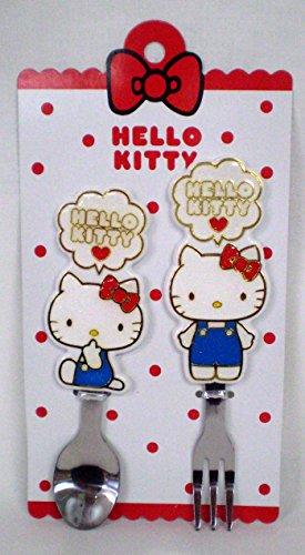 [Hello Kitty] Glitter spoon & fork set - Fork & Amp ; Spoon