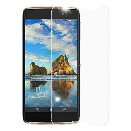 "Tmnobile Revvl Glass / ALCATEL A30 FIERCE 5.5"" (METRO PCS) Glass, Tmobile Revvl Clear Premium Tempered Glass LCD Screen Protector Shield Touch, Anti-Scratch, Fingerprint, Bubble Free, (GLASS) (A30 Lcd)"