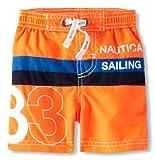 Nautica Baby-Boys Infant 83 Sailing Boardshort, Neon Fish, 12 Months image