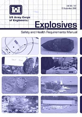 em 385 197 explosives safety and health requirements manual us rh amazon com army corps of engineers safety and health manual army corps of engineers construction safety manual
