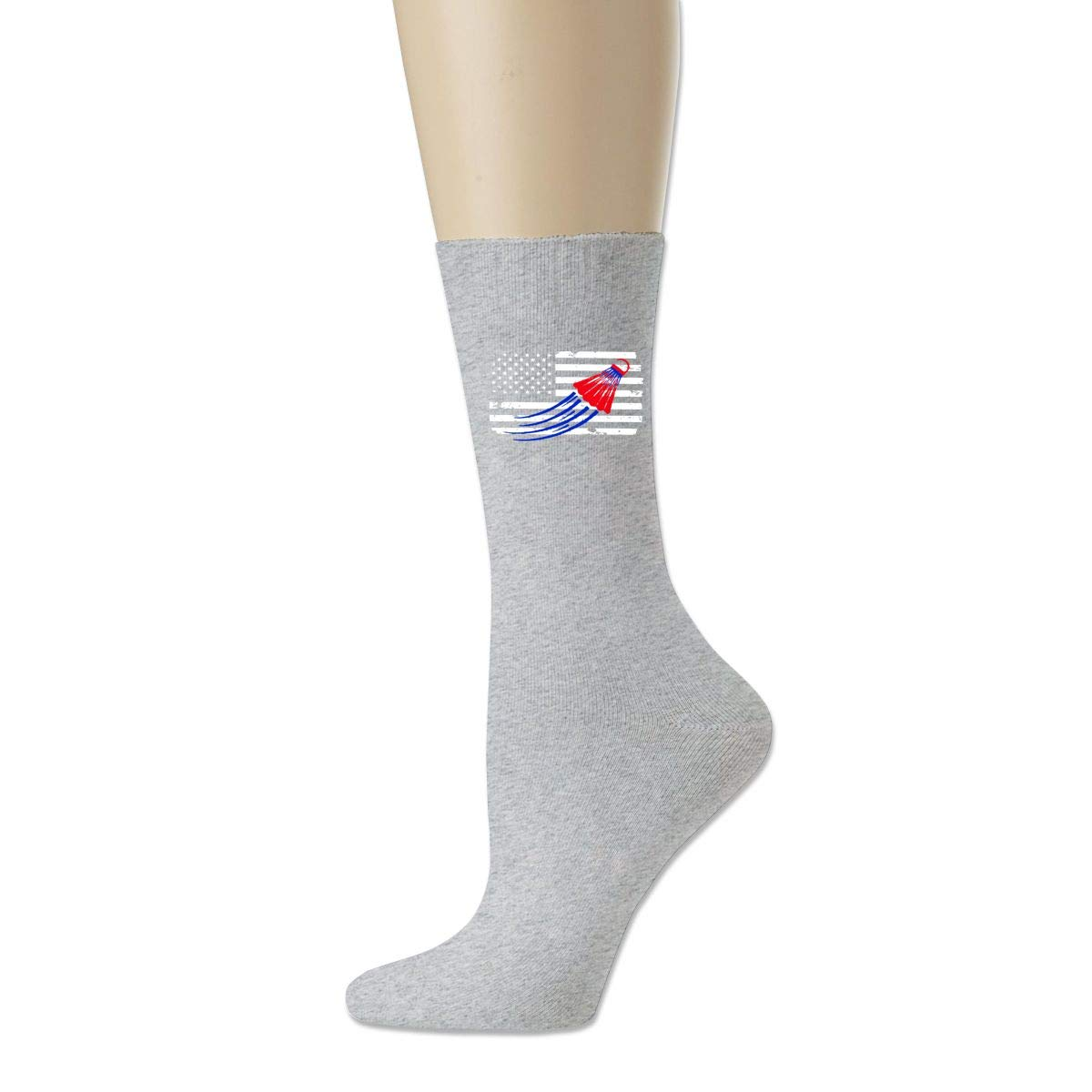 Cotton Crew Bobbysox Ski Socks Unisex Soccer Socks Badminton American Flag