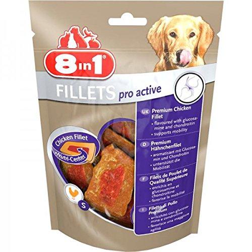 8 in 1 - Produit Naturel - Filets de poulet 8 in 1 (Pro active pour une meilleure mobilité - 80g) 8in1