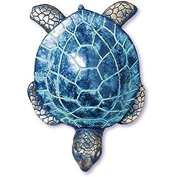 Brass Sea Turtle Beach Tiki Door Knocker Coastal Reef