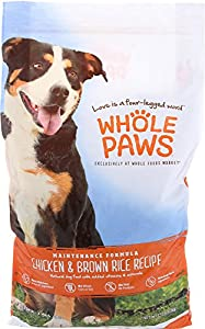 Whole Paws, Adult Maintenance Dog Food Formula, Chicken & Brown Rice, 15 lb