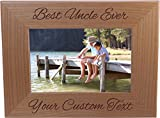 First My Uncle Forever My Friend - 4x6 Inch Wood Picture Frame - Great Gift for Birthday, or Christmas Gift for Brother, Brothers, Uncles