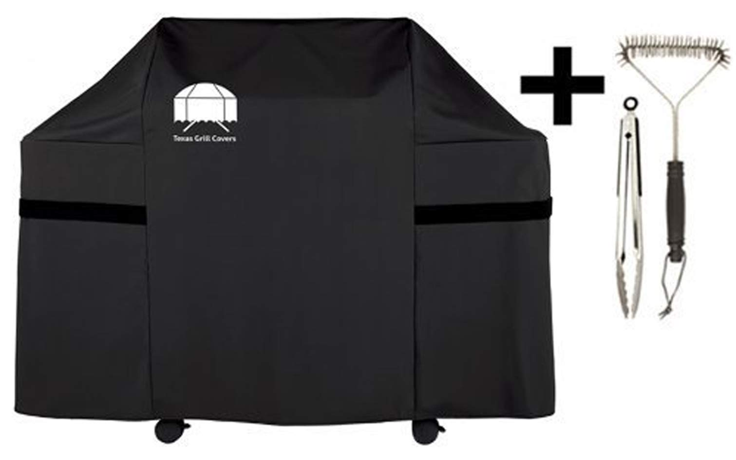 Texas Gas Grill Cover for Weber Genesis E and S Series Gas Grill 7553 | 7107 Premium Including Grill Brush and BBQ Tongs | Heavy Duty Waterproof Grill Cover for Outdoor Barbecue Gas Grill by Texas Grill Covers