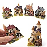 SoundsBeauty Miniature House Fairy Garden Micro Landscape Home Decoration Resin Craft Decor - Random Color and Pattern
