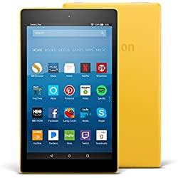 "All-New Fire HD 8 Tablet with Alexa, 8"" HD Display, 32 GB, Canary Yellow - with Special Offers"