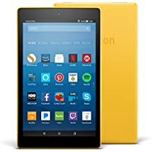 "Fire HD 8 Tablet with Alexa, 8"" HD Display, 32 GB, Canary Yellow - with Special Offers"