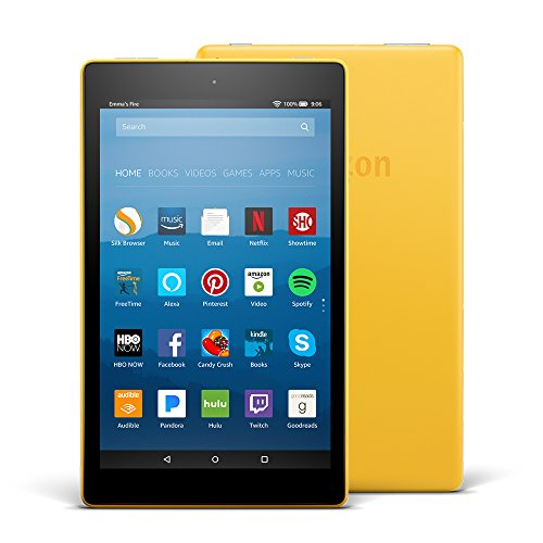 """Fire HD 8 Tablet with Alexa, 8"""" HD Display, 32 GB, Canary Yellow - with Special Offers (Previous Generation –..."""