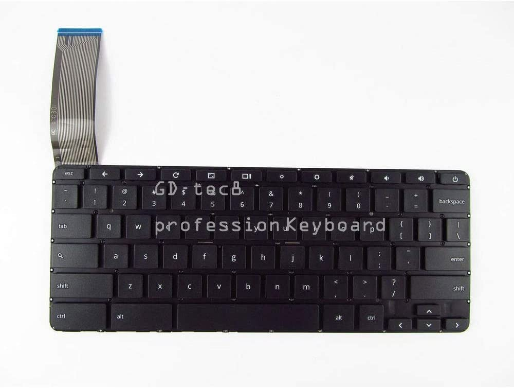 Laptop Keyboard Compatible for HP Chromebook 14-X 14-X000 14-x023ds 14-x030nr 14-x040nr 14-x050nr 14-x099nd 14-x001nd US Black No Frame