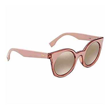ecf3b2845707 Image Unavailable. Image not available for. Color  Fendi Grey-Rose Gold  Mirror Cat Eye Sunglasses ...