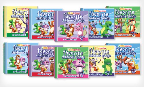 10-disc compilation of Little Genius Favorite Children's Songs CDs, Volumes ()