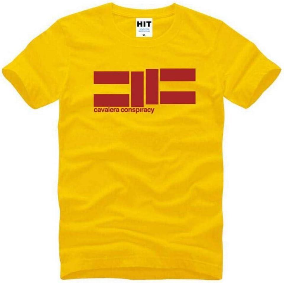 W-R L Amarillo blanco Cuello Redondo de Los Hombres Camiseta de Manga Corta de Algod/ón Camiseta Casual Camisa de Manga Corta de Los Hombres de Verano de Moda de Impresi/ón