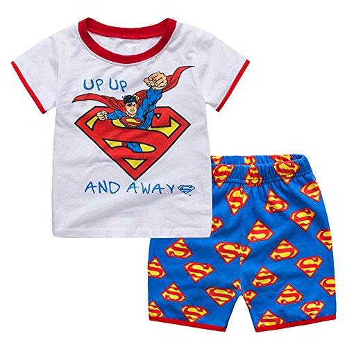 Meteora Boys Short Pajamas Toddler Kids Super Hero