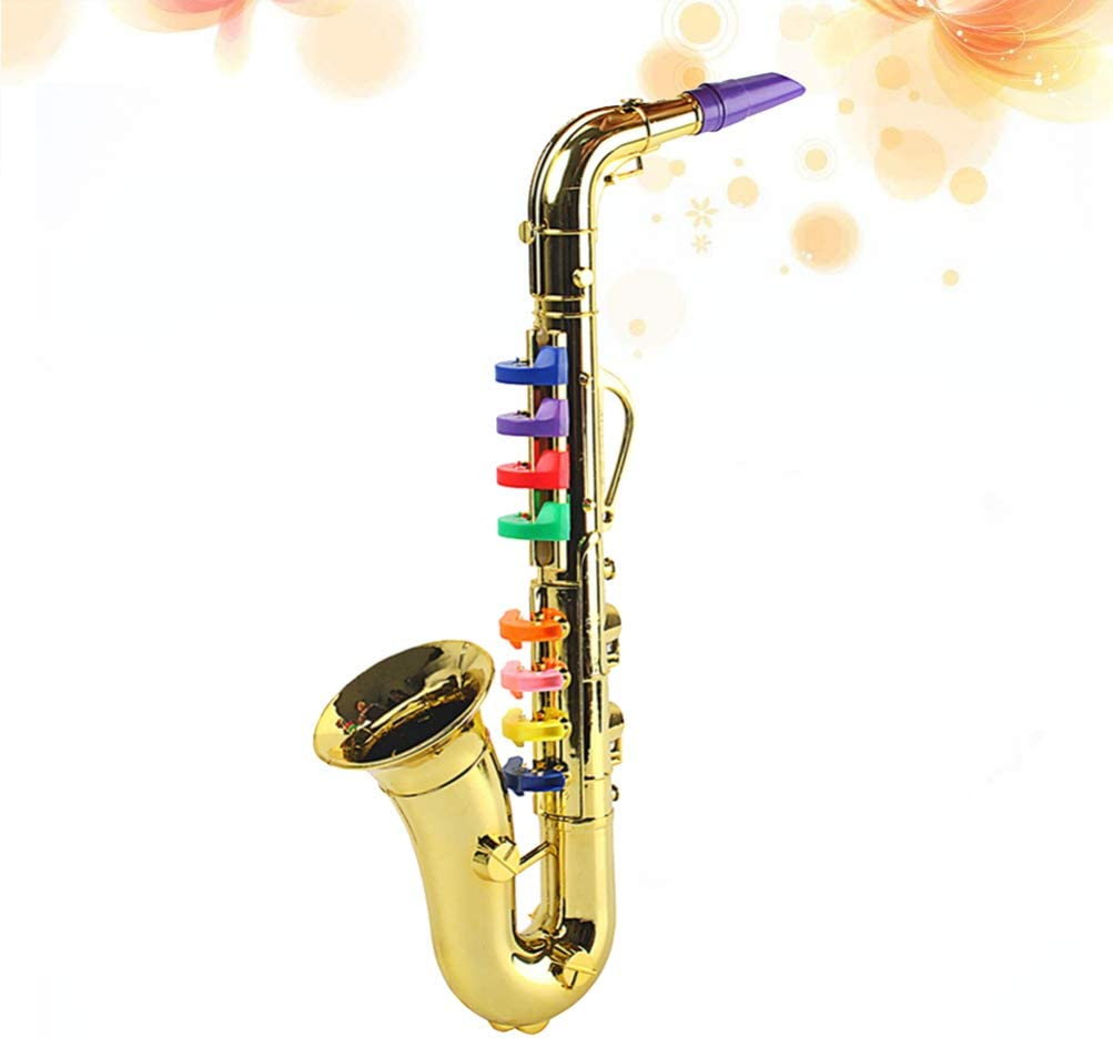 Milisten Saxophone Toy Kids Trumpet Musical Instrument Toy Early Educational Toy