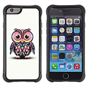 Suave TPU GEL Carcasa Funda Silicona Blando Estuche Caso de protección (para) Apple Iphone 6 PLUS 5.5 / CECELL Phone case / / Owl Pink Eyes Colorful Disco Bird Drawing /
