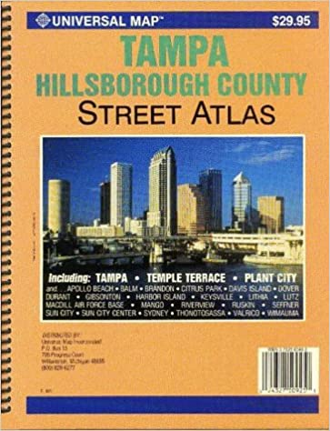 Plant City Zip Code Map.Tampa Hillsborough County Fl Street Atlas Universal Map
