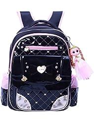 Mysticbags Girls Backpack Waterproof Kids Backpack Cute Princess Style