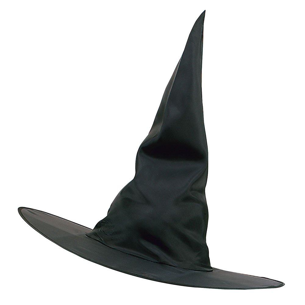 Amazon Com Adult S Black Nylon Witches Hat Clothing