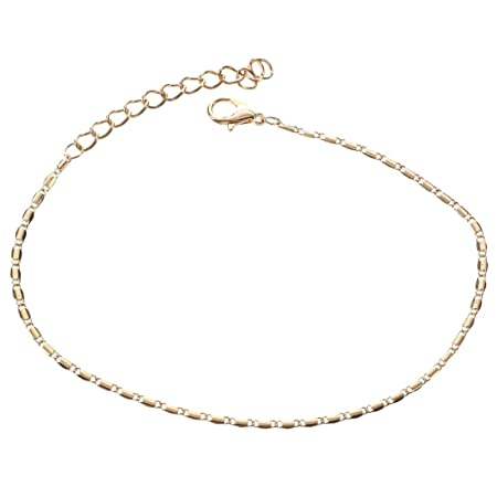 Fulltime(TM) Lady Simple Fashion Gold Metal Ankle Chain Bracelets Anklets (Gold) vnz4u