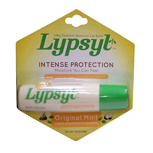 Lypsyl Intense Protection Original Mint, Lip Balm 0.10 oz (Pack of 6)