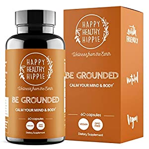 Gut Health Shop 51DPWpnh-YL._SS300_ BE Grounded Anxiety Relief Supplement - Happy Healthy Hippie – Stress and Serotonin Supplement – Lavender and Magnesium…