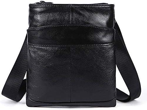 Outdoor bag,Sac à bandoulière en cuir pour hommes Sac à main Business Messenger Casual Tote Sling Sac de voyage Document Crossbody avec poignée en haut et bandoulière réglable MEN