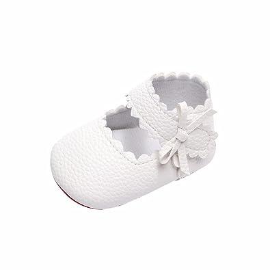 grand choix de 63e12 5bd2b Manadlian Chaussures Bébé Chaussures de Bowknot Bébé Fille Bebe Fille  Princess Soiree Chaussures Ballerine Cuir Seule Chaussures Mary Jane