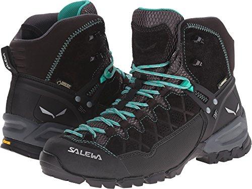 (Salewa Women's Alp Trainer Mid GTX Alpine Trekking Boot, Black Out/Agata, 6 B(M) US)