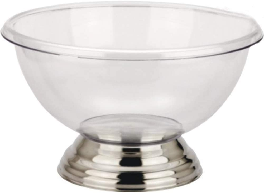 GWW Large Capacity Round Champagne Ice Bucket,Acrylic Double Wall Beverage Tub Clear Wine Buckets