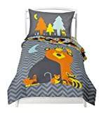 Twin Reversible Woodland Creatures Duvet Cover Set with 1 Reversible Pillowcase for Kids Bedding -Double Brushed Ultra Microfiber Luxury Bed Sheet Set By Where The Polka Dots Roam (66
